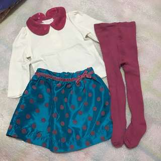 Baby's terno blouse and skirt