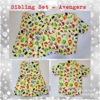 🕸 Sibling Set - Avengers (yellow)