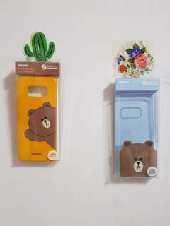 🚚 Authentic Line friends / brown Samsung S8 casing