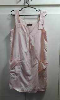 Preloved Plains and Prints Sleeveless Dress