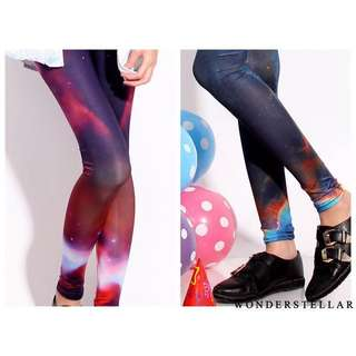 Wonderstellar/ WS Cosmic Galaxy Wonderland Leggings/ Tights