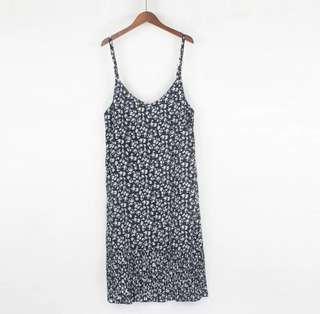 韓版碎花洋裝(肩帶可調整長度)