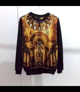 Sweater fullprint unisex