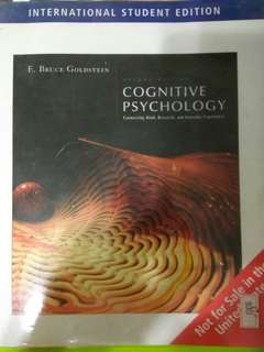 Cognitive Psychology -2nd edition