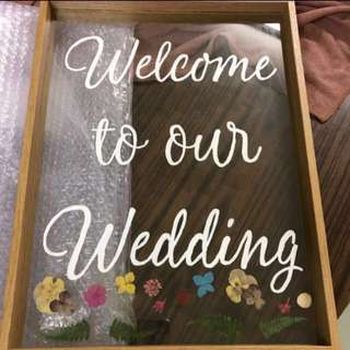 Wedding Welcome Board可配木架展示