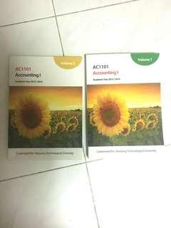 Ac1101  AC1102 accounting 1 &2 textbooks NTU/NBS