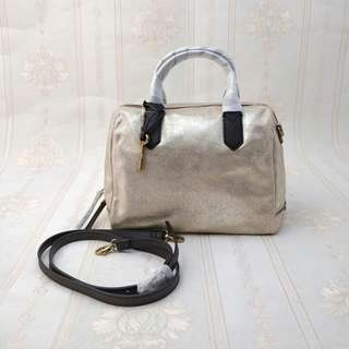 FOSSIL FIONA SATCHEL PALE GOLD