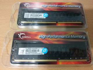 G.Skill DDR3 10600 CL9 4GB DIMM RAMs for Desktop PC F3-10600CL9S-4GBNT  (2 pieces)