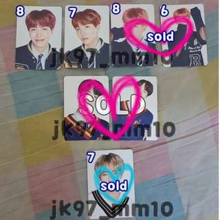 [WTS] BTS Japan Fanmeet Vol 4 Mini Photocard - JHope (#8 & #7) RM (#8 & #6) & V Taehyung (#7)