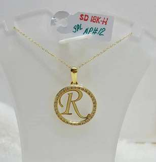 Necklace w/ Initial Pendant