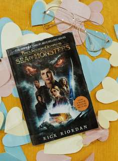 Percy Jackson and the Sea of Monsters by Rick Riordan (With Plastic Cover)