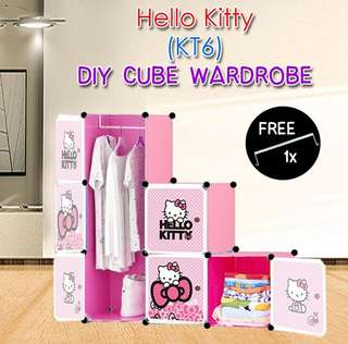 CARTOON 6 CUBE DIY WARDROBE