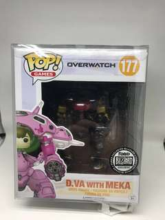 Funko Pop Dva With Meka Blizzard Exclusive Overwatch