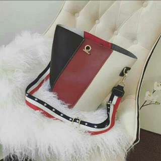 SALE 230 BUCKET BAG w/ red pouch on hand