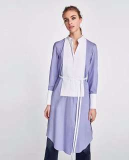 European and American women's new color matching long shirt