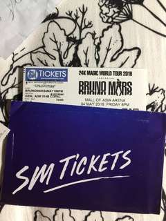 Bruno Mars Concert ticket GA May 4, 2018