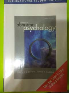 Abnormal psychology - 3rd edition