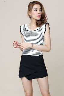Ivan stripe knit top - in stock