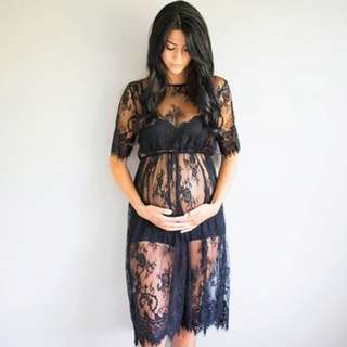 Maternity Wear - Lace Night Gown