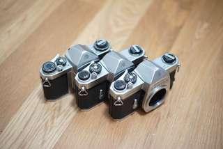 Junk Pentax Spotmatic Bodies x3