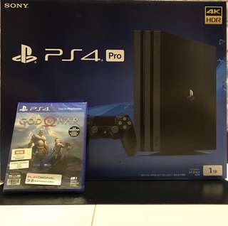WTS- BN PS4 Pro + GOW 4