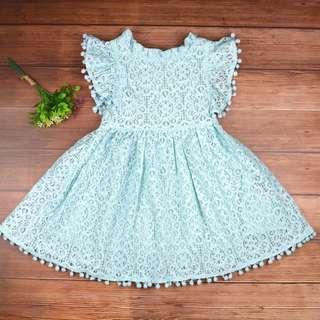 Girl Ruffle Lace Dress