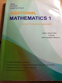 Olevel guide and practice for additional mathematics