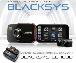 Blacksys / Camsys CL-100B car cam (front & rear)