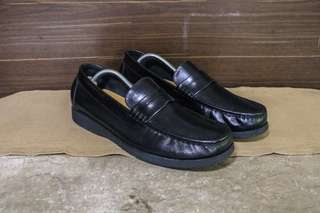 FREE SHIPPING Black Penny Loafers Leather Shoes Gibi Aldo Florsheim