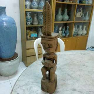 Wood Carving Sculpture Vintage 1