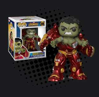 "FUNKO POP - AVENGERS 3 - INFINITY WAR - HULK BUSTING OUT OF HULKBUSTER 6"" SUPER SIZED"