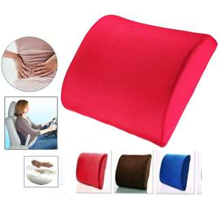 Memory Foam Lumbar Back Support Cushion Pillow (Brand New)