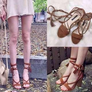 🚚 羅馬綁帶跟鞋