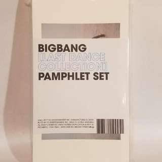 Bigbang Last Dance Collection The Pamphlet Set