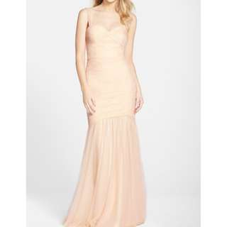 Draped Tulle Mermaid Gown