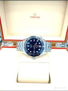 Brand New 100% Authentic Omega SeaMaster Co-Axial Automatic Divers In Royal Blue Ceramic Bezel & Blue Dial 212.30.41.20.03.001