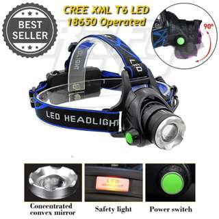 LED Headlamp Headlight Flashlight Torchlight 10W XML T6 Zoomable Adjustable Head Light lamp torch