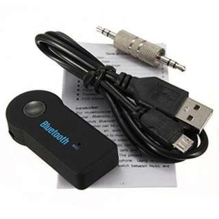 USB Mini Bluetooth Aux Stereo Audio Music Car Adapter Receiver