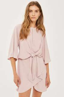 Top Shop Rose Knot Front Mini Dress