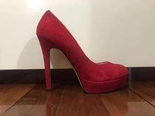 Siren Red Suede High Heels