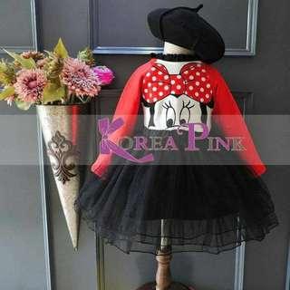 dress anak korea pink 557