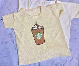 Starbucks Logo Tees in light brown or white