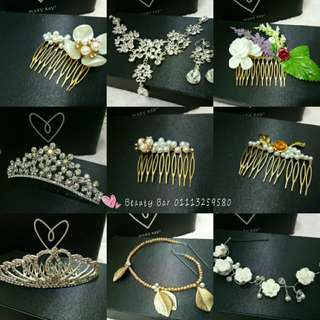 Bridal Hair Accessories (For rent only)