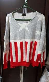 🚚 韓星星美式風格毛衣