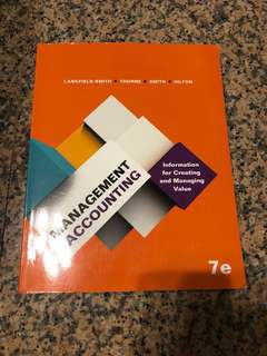 ACC2706 ACC2002 Management Accounting textbook