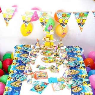 Minions birthday party tableware set 生日會派對餐具套裝