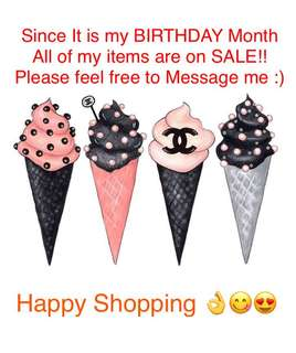 Birthday Month Sale on New and Loved Branded Clothes