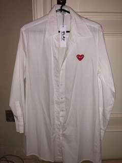 Comme des Garçons White Shirt Dress