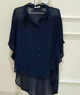 Navy Loose Blouse