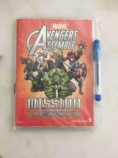 Activity book from SQ - Avengers theme